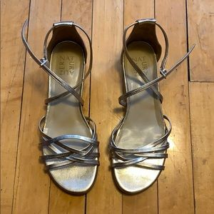Naturalizer gold strappy sandals 8.5